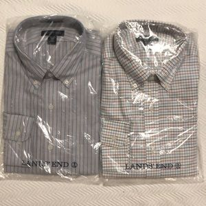 Brand new lands end men's collared shirts